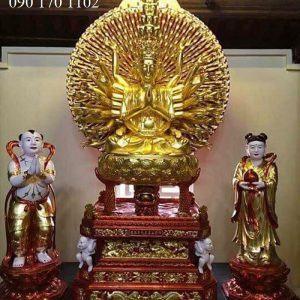 Tượng Phật bà Kim đồng Ngọc nữ