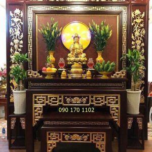 Ban thờ Phật đẹp hiện đại