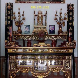 Hoành phi câu đối gỗ dổi thờ gia tiên, nhà thờ họ, đình chùa