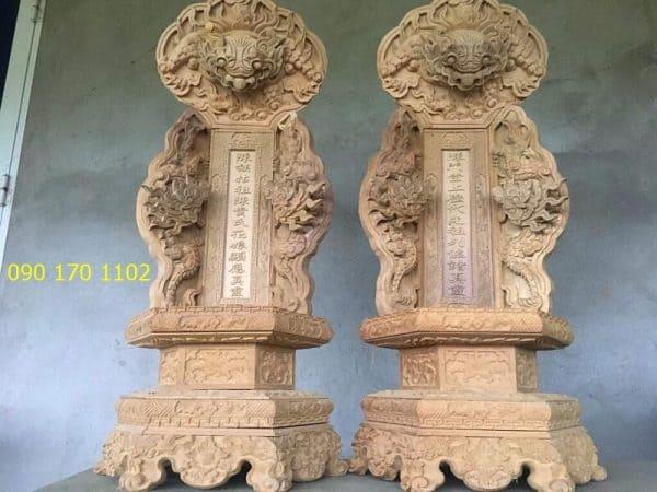 Long vị thờ bằng gỗ mít, gỗ dổi