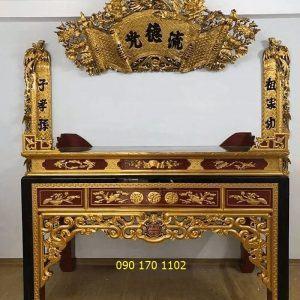 Mẫu bàn thờ đẹp Sơn Đồng
