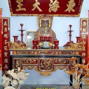 Mẫu bàn thờ ô xa 1 tầng chạm Rồng