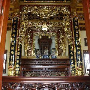 Mẫu cửa võng thờ trong ngoài
