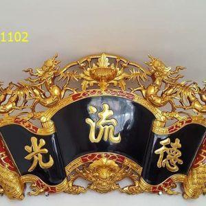 Mẫu cuốn thư Đức Lưu Quang thếp vàng đẹp