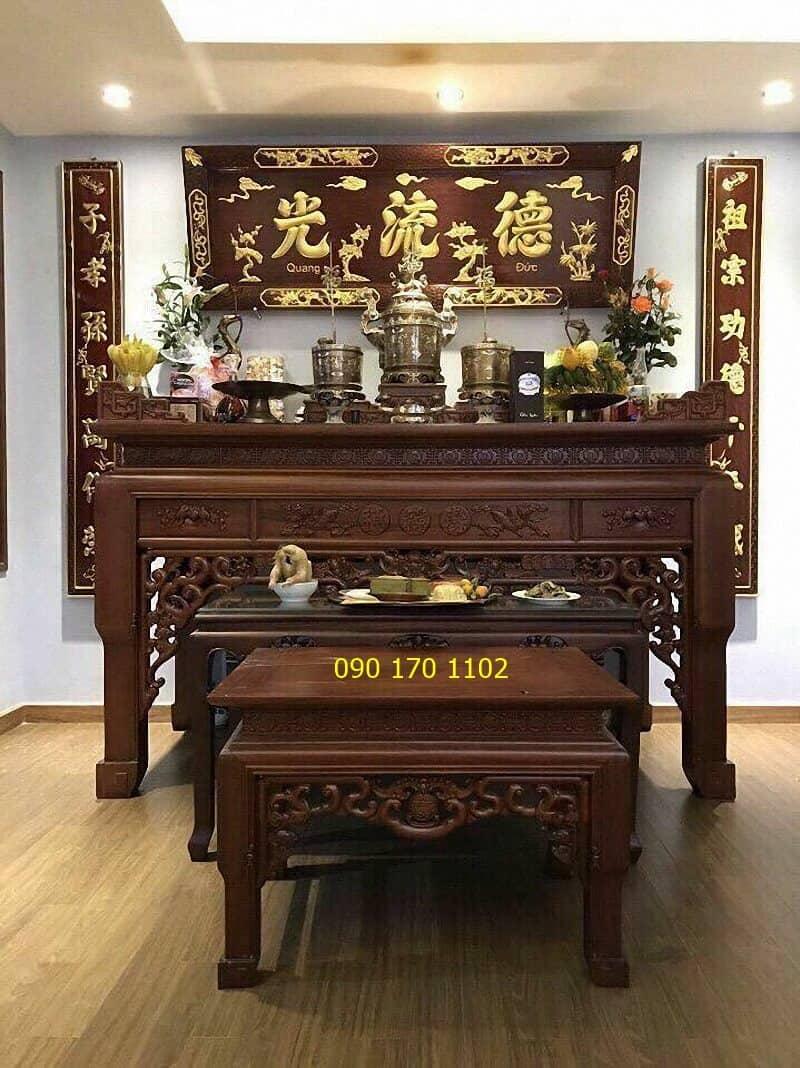 Mẫu phòng thờ gia tiên hiện đại