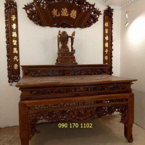 Mẫu phòng thờ gỗ gụ cổ kính