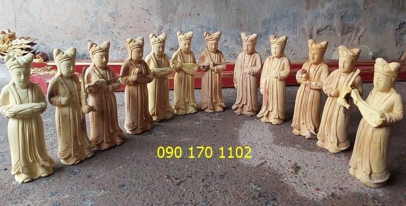 Tượng 12 cô Sơn Trang - 12 cô Tiên bằng gỗ