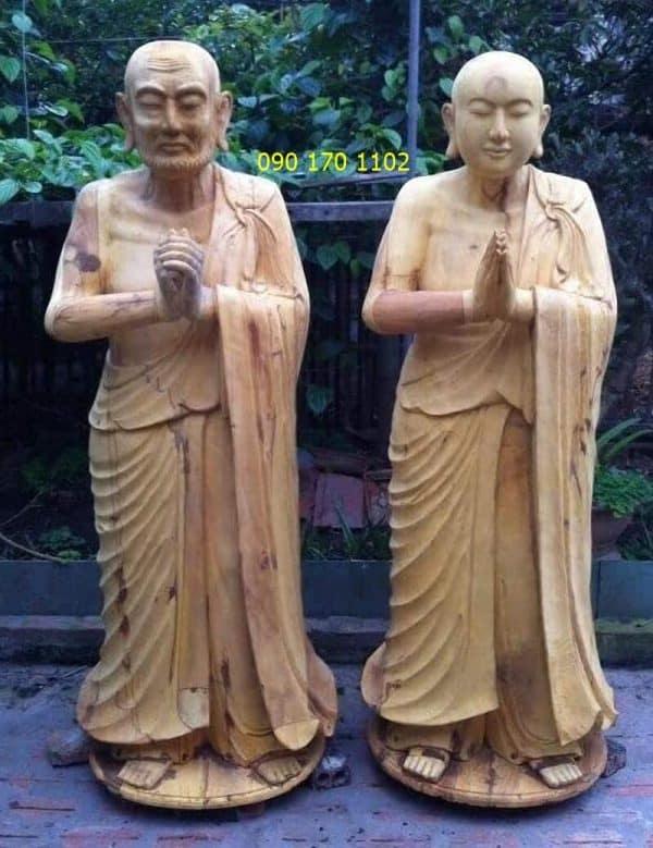 Tượng Phật A nan, Ca diếp gỗ mít