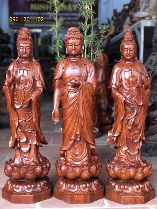 Tượng Phật Di Đà Tam Tôn
