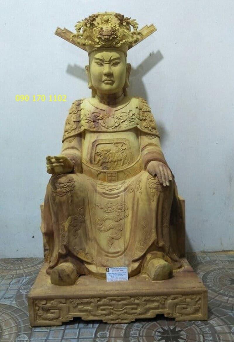 Tượng thờ Đức Ông theo lối cổ bằng gỗ mít