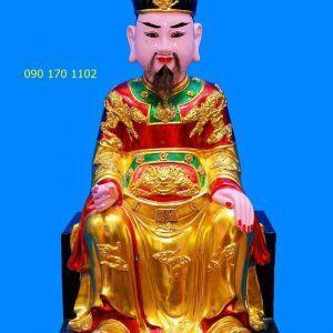 Tượng thờ Đức Trần Triều thếp vàng-1