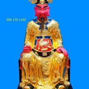 Tượng thờ Đức Trần Triều thếp vàng-2