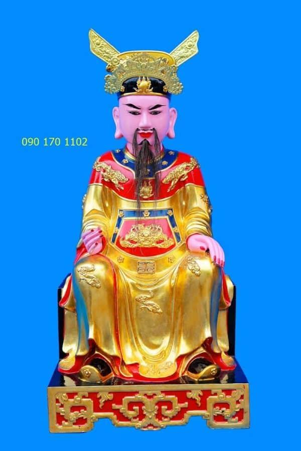 Tượng thờ Đức Trần Triều thếp vàng
