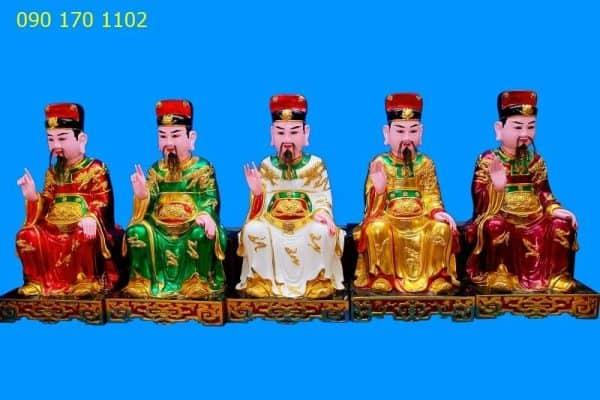Tượng thờ Ngũ Vị Tôn Quan-1