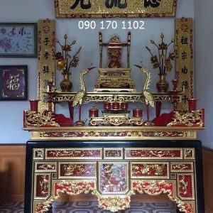 Bàn thờ ô xa 3 tầng sơn son thếp vàng