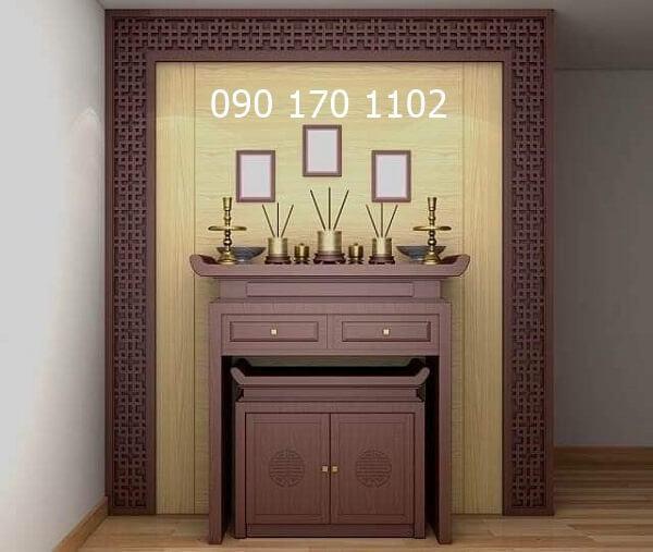 Mẫu bàn thờ chung cư số 03