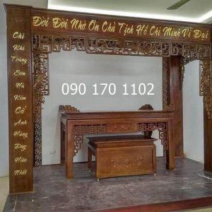 Ban thờ nhớ ơn chủ tịch Hồ Chí Minh