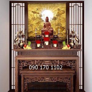 Bàn thờ Phật nhị cấp
