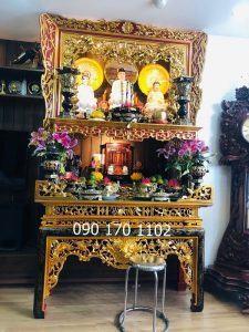 Cách bài trí bàn thờ Phật tại gia đúng nhất