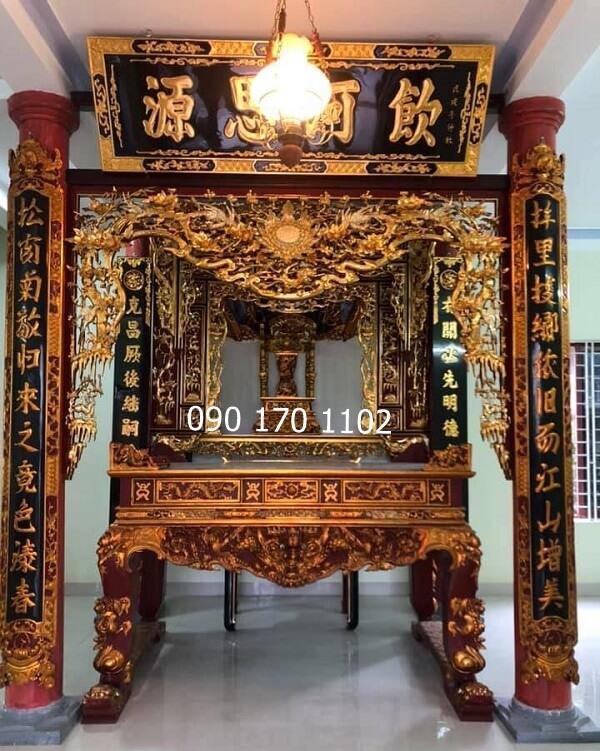 Cửa võng Thiều Châu thếp vàng đẹp