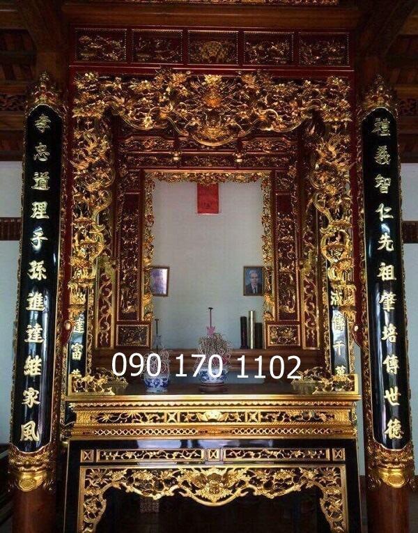 Cửa võng thờ đẹp trang trí phòng thờ gia tiên, nhà thờ họ, đình chùa, đền