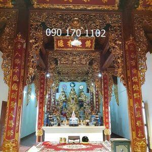 Hoành phi câu đối gian thờ Phật