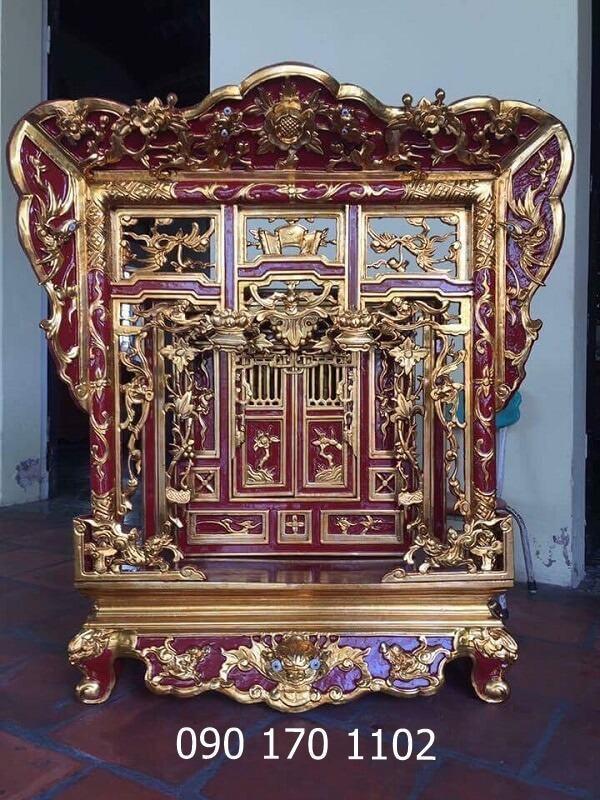 Khám thờ Hổ phù gỗ mít, gỗ dổi
