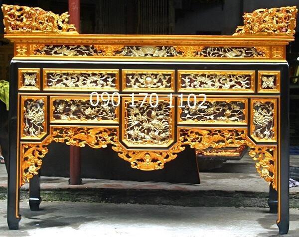 Mẫu bàn thờ ô xa Sơn Đồng đẹp