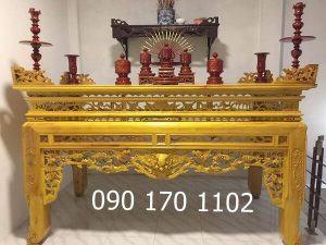 Những mẫu bàn thờ gỗ mít đẹp của làng nghề Sơn Đồng