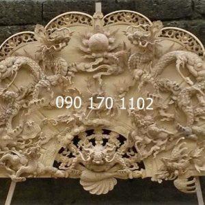 Quạt thờ Tứ Linh gỗ mít, gỗ dổi
