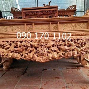 Sập thờ gỗ gụ chạm chữ Phúc