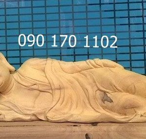 Tượng Phật nhập Niết Bàn (Phật nằm) gỗ mít
