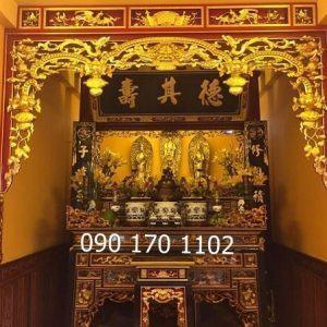 Cửa võng phòng thờ Phật tại gia