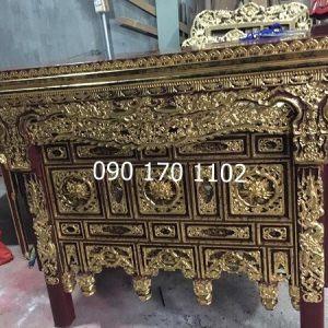Mẫu bàn thờ chấp tải thếp vàng-1