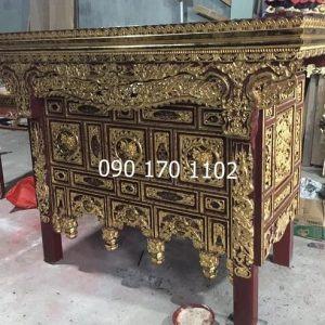 Mẫu bàn thờ chấp tải thếp vàng