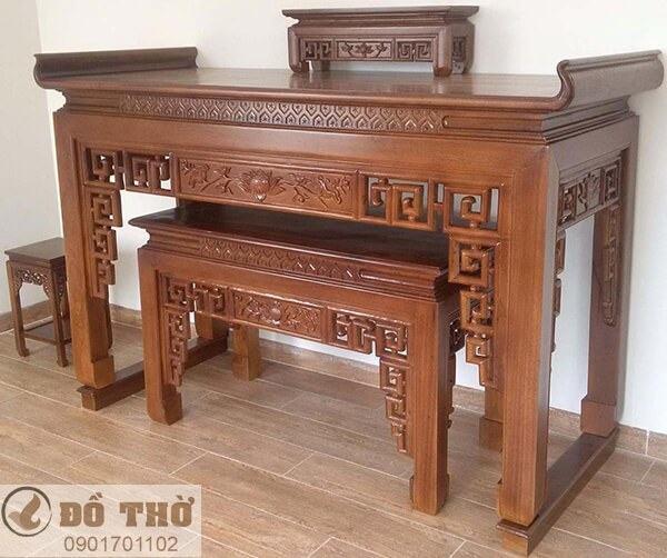 Những mẫu bàn thờ đẹp đơn giản bằng gỗ gụ-1