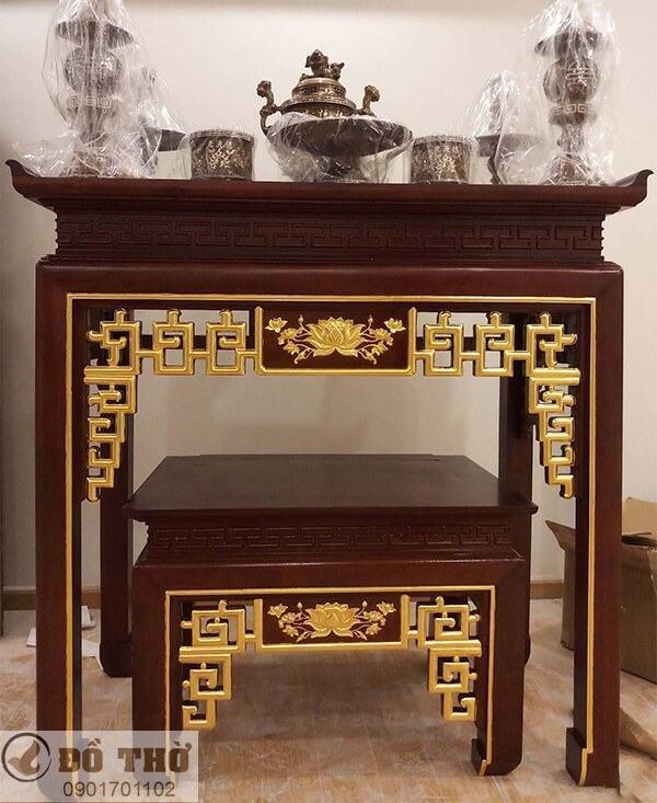 Những mẫu bàn thờ đẹp đơn giản bằng gỗ gụ-3