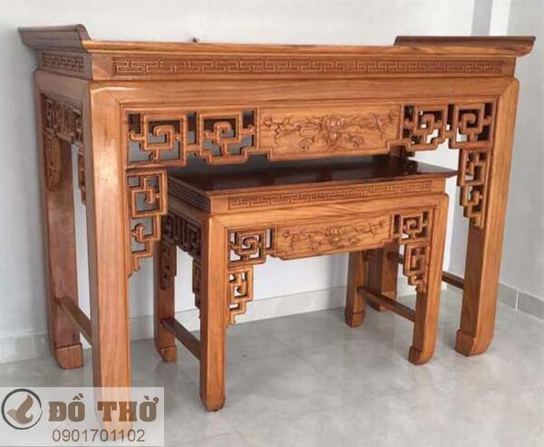 Những mẫu bàn thờ đẹp đơn giản bằng gỗ gụ-4