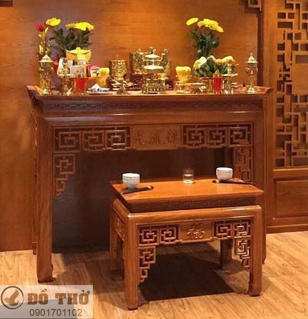 Những mẫu bàn thờ đẹp đơn giản bằng gỗ gụ-5