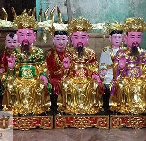 Tượng thờ 5 vị Quan Lớn trong Tứ Phủ