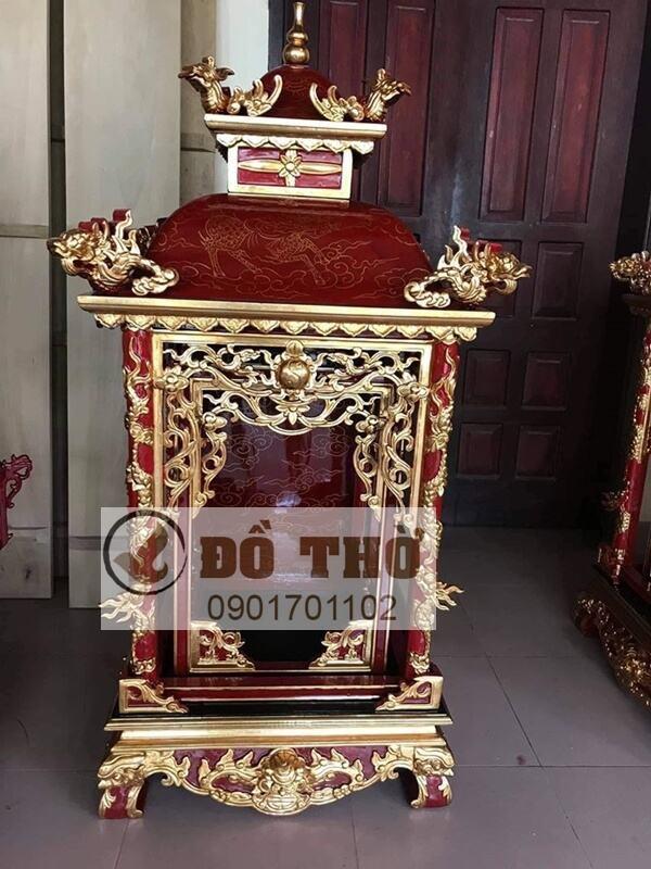Khám thờ Cậu sơn son thếp vàng