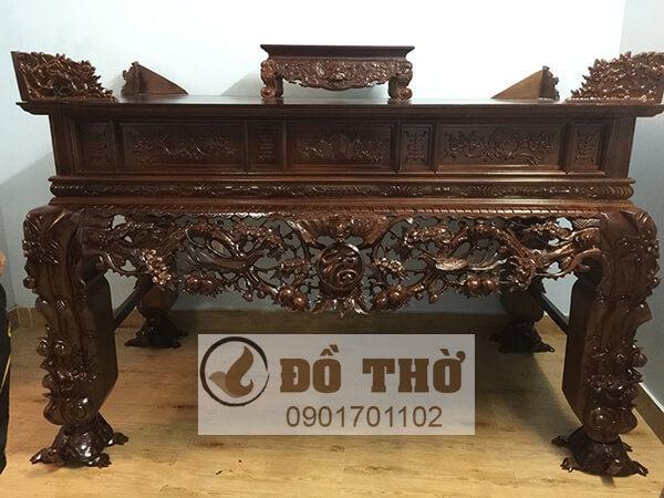 Sập thờ chân rùa bằng gỗ mít, gỗ dổi, gỗ gụ, gỗ hương