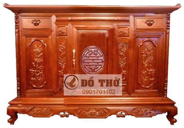 Tủ thờ gỗ đẹp hiện đại đánh vecni