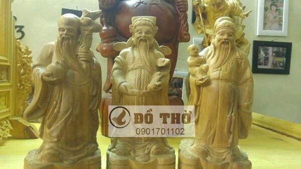 Tượng 3 ông Phúc Lộc Thọ bằng gỗ-1