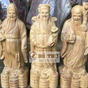 Tượng 3 ông Phúc Lộc Thọ bằng gỗ