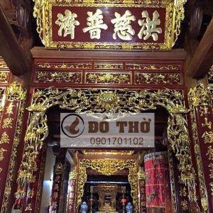 Cửa võng trang trí gian thờ trong ngoài Đình Chùa