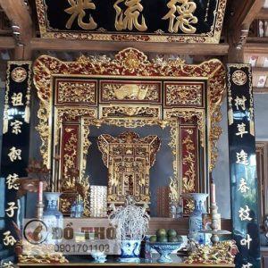 Khám thờ gia tiên cỡ lớn sơn son thếp vàng