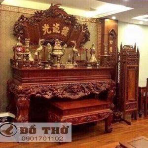 Mẫu ban thờ gỗ gụ đẹp hiện đại