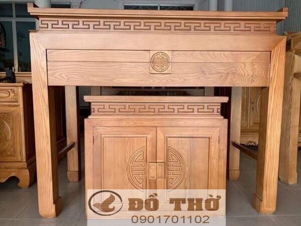 Mẫu bàn thờ nhỏ gọn kèm tủ con