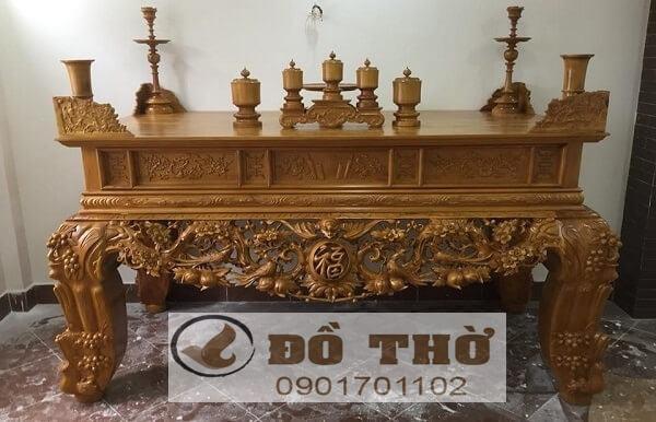 Sập thờ gỗ mít, gỗ gụ, gỗ dổi, gỗ hương đẹp - Đồ Thờ Sơn Đồng